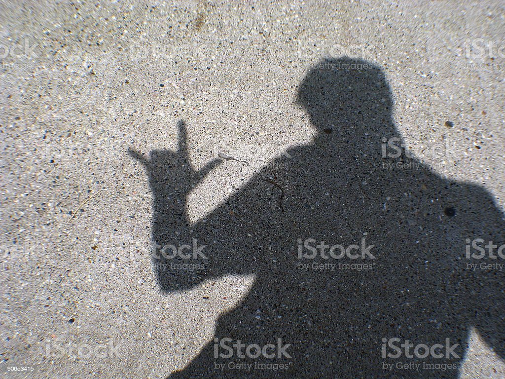 Rock On, Dude Shadow royalty-free stock photo