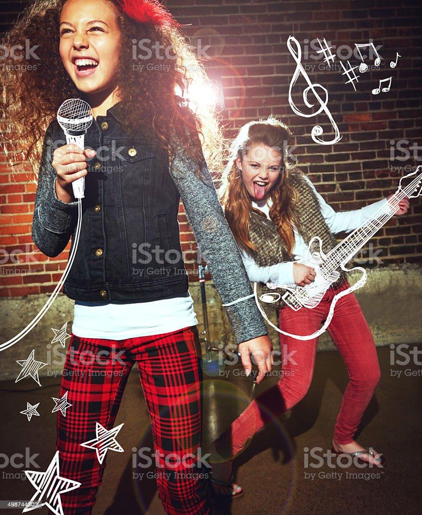 Rock on! stock photo