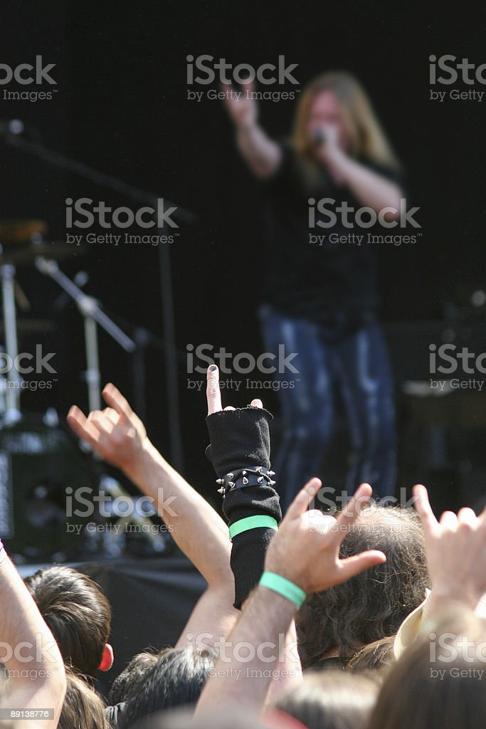 Rock on stock photo