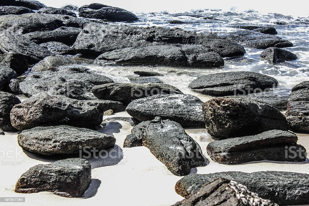 Rock on the Beach Koh Samet, Thailand royalty-free stock photo