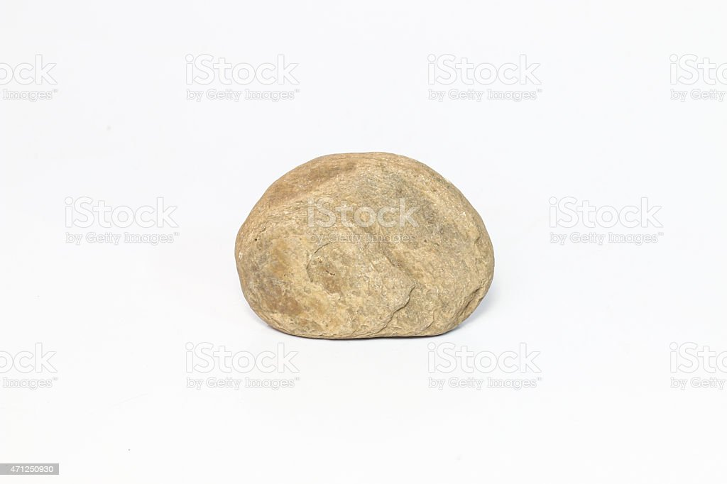 rock on white paper background. stock photo