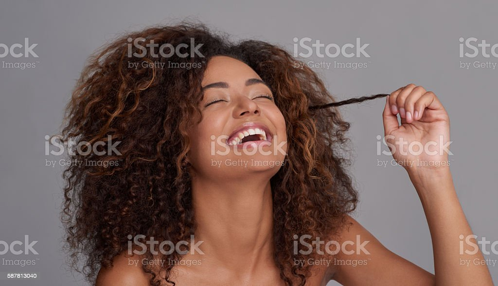 Rock out with your curl out stock photo