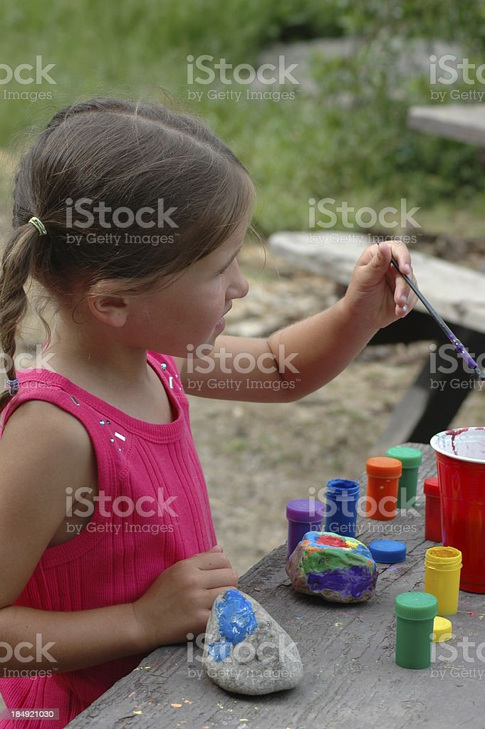 Rock Painting stock photo