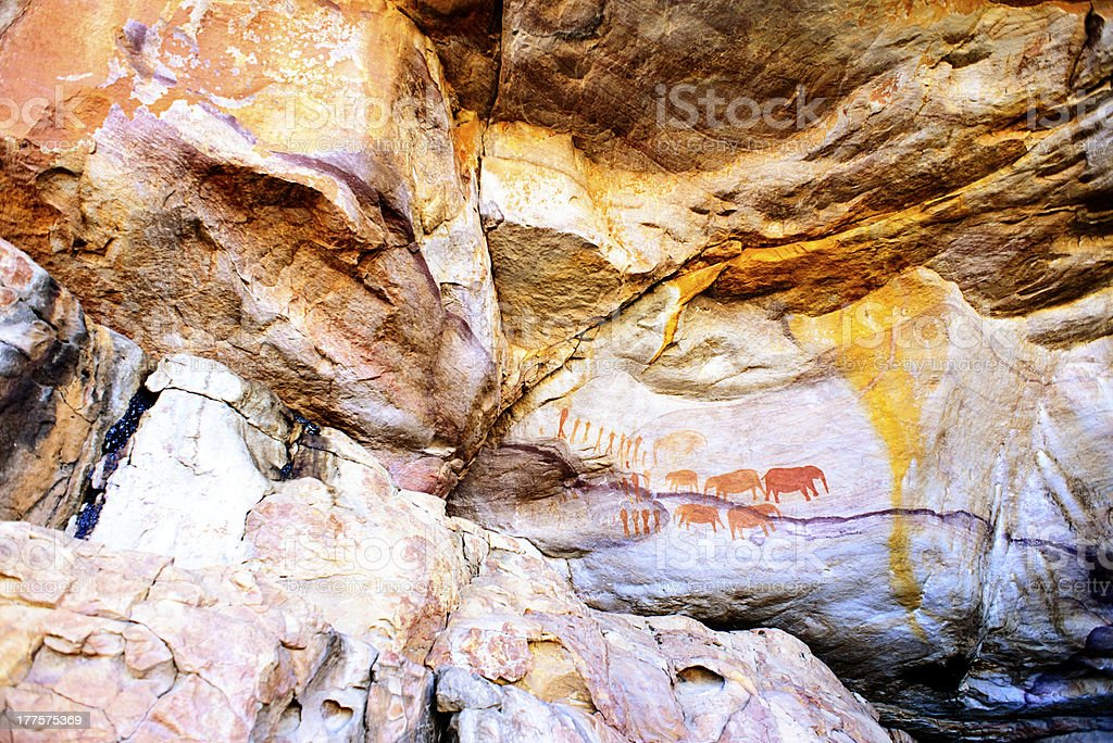 Rock paintings Cederberg Mountains royalty-free stock photo