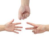 Rock Paper Scissors Hand Game