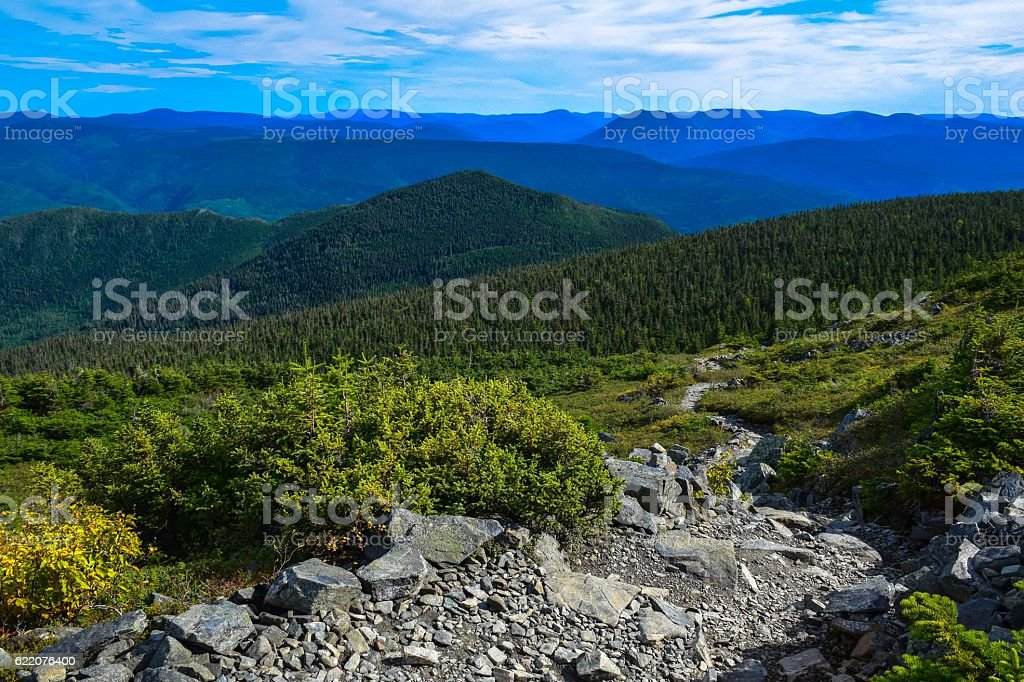 Rock path at the top of Mont Albert, Quebec, Canada royalty-free stock photo