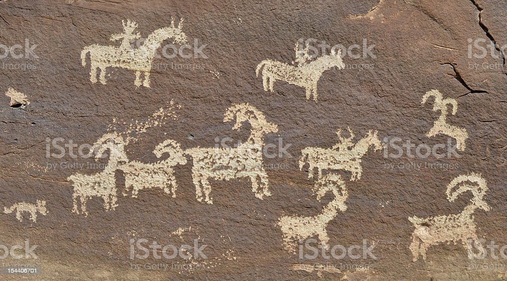 Rock petroglyph, Utah, USA royalty-free stock photo