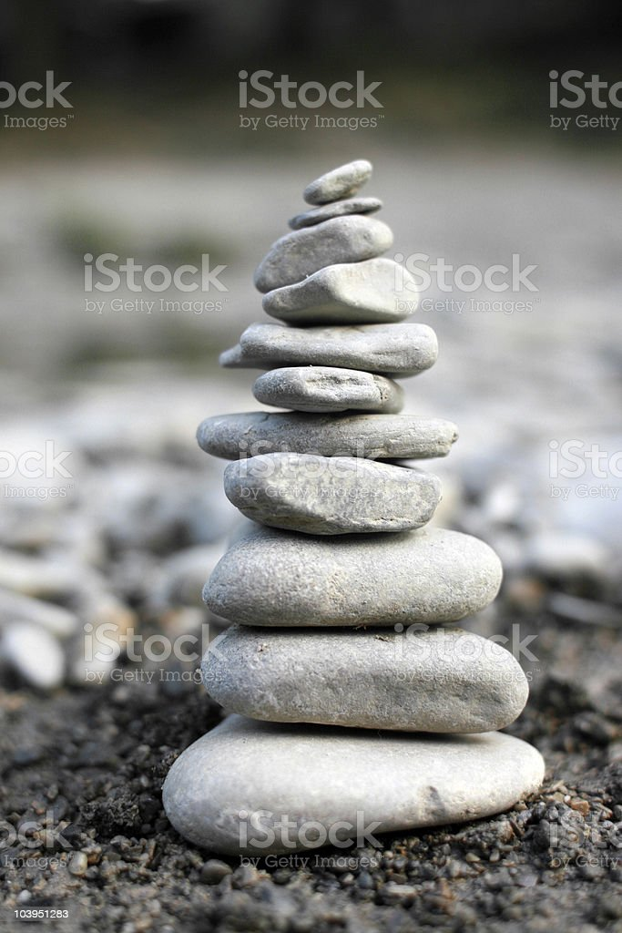 Rock Pile - Close Up Photo of a 'Trail Marker' royalty-free stock photo
