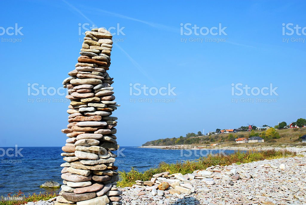 rock piles stock photo