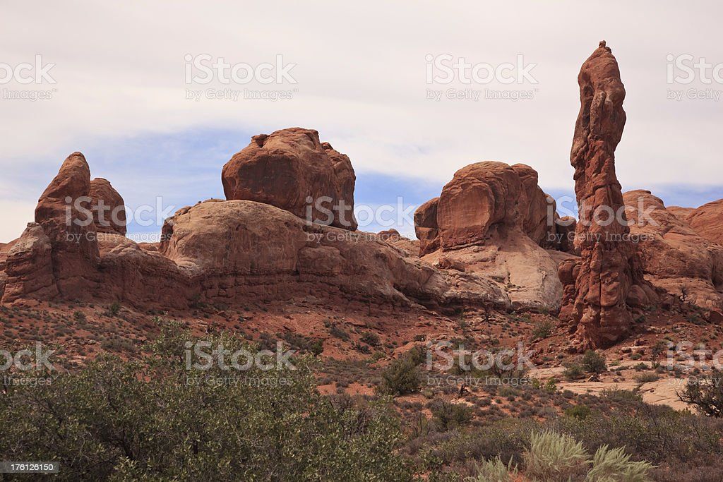Rock Pinnacles in Arches National Park royalty-free stock photo