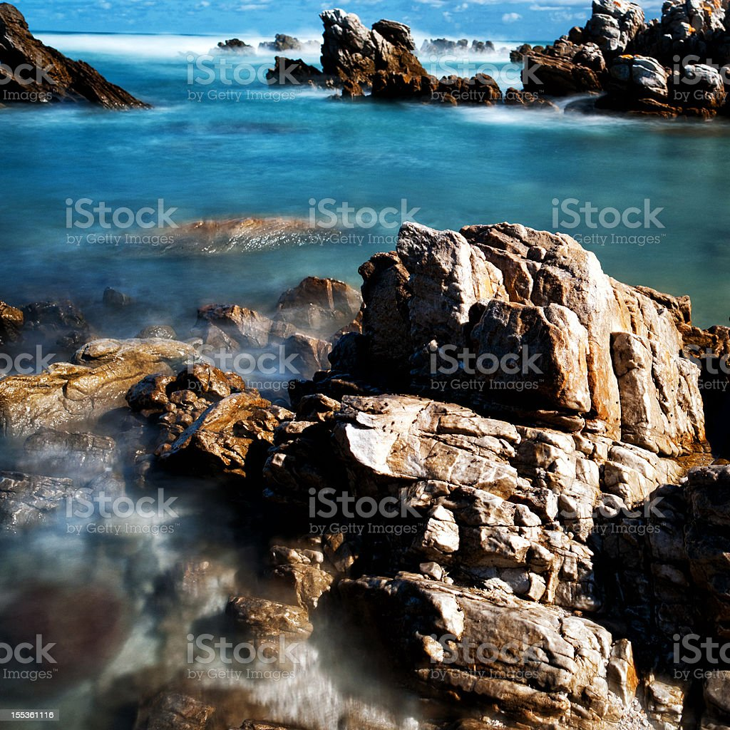 Rock pool by day royalty-free stock photo