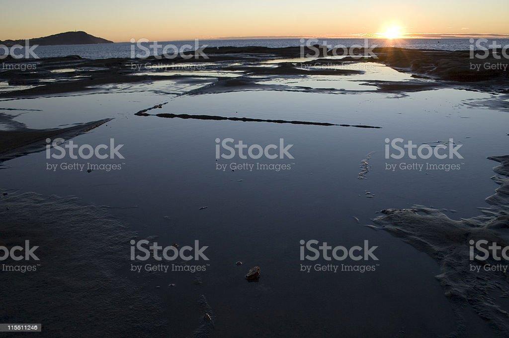 Rock Pool Sunrise stock photo