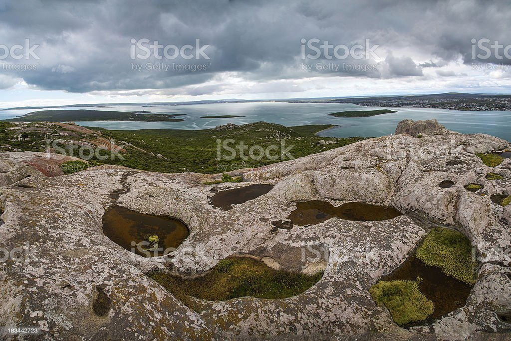 Rock pools and islands royalty-free stock photo