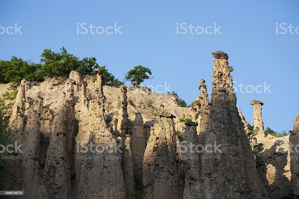 Rock pyramids stock photo