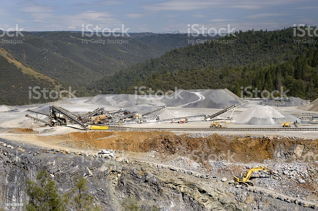 Rock Quarry, Northern California stock photo