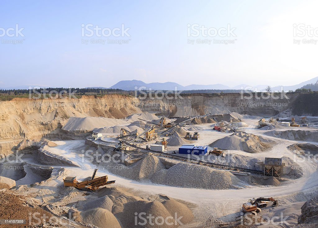 Rock Quarry (XXXL+) stock photo
