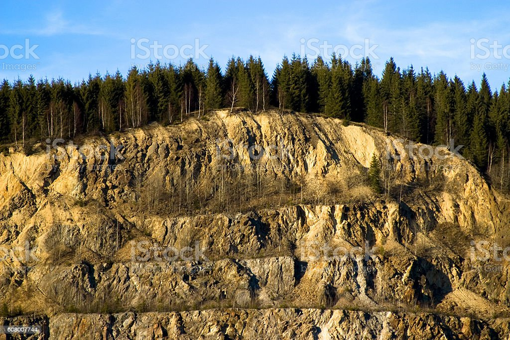 Rock Quarry stock photo