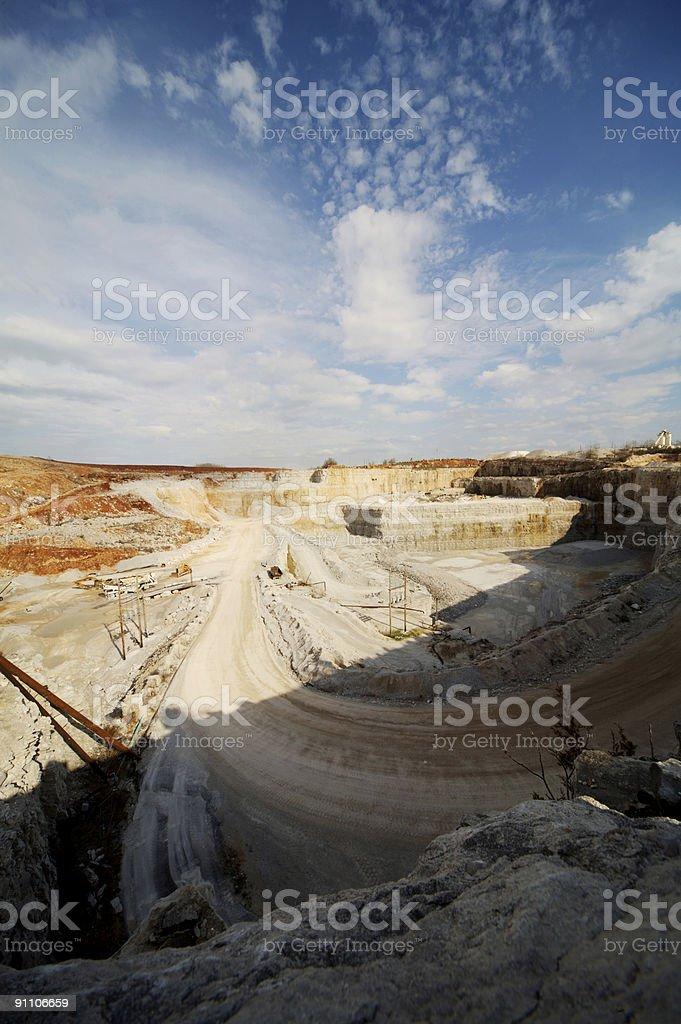 rock quarry scenes royalty-free stock photo