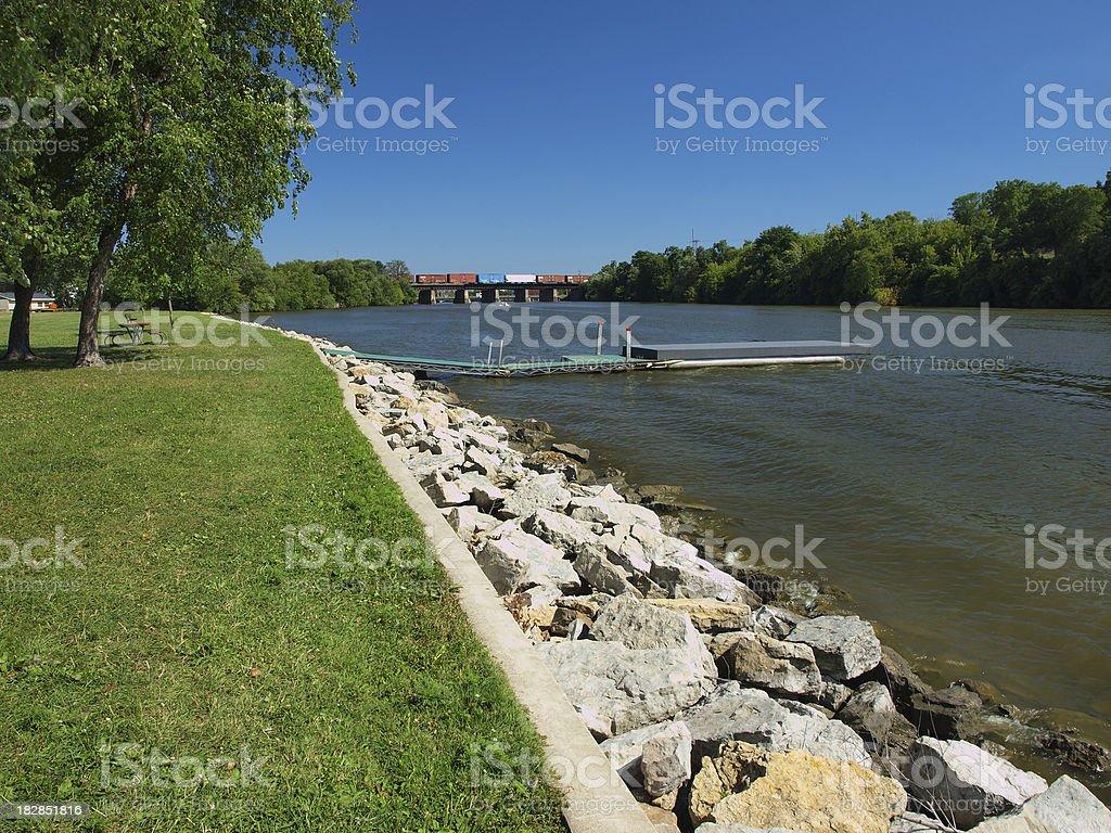 Rock River in Janesville stock photo