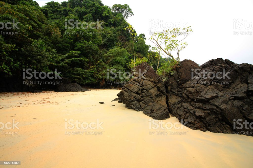 rock & sand stock photo