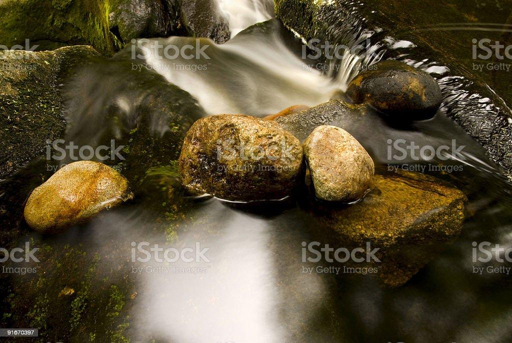 Rock Slide stock photo