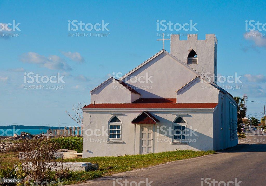Rock Sound Church stock photo