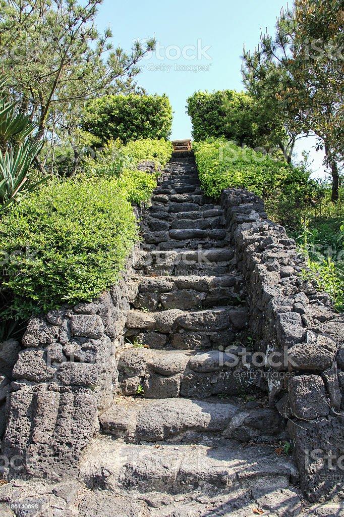 Rock stair stock photo