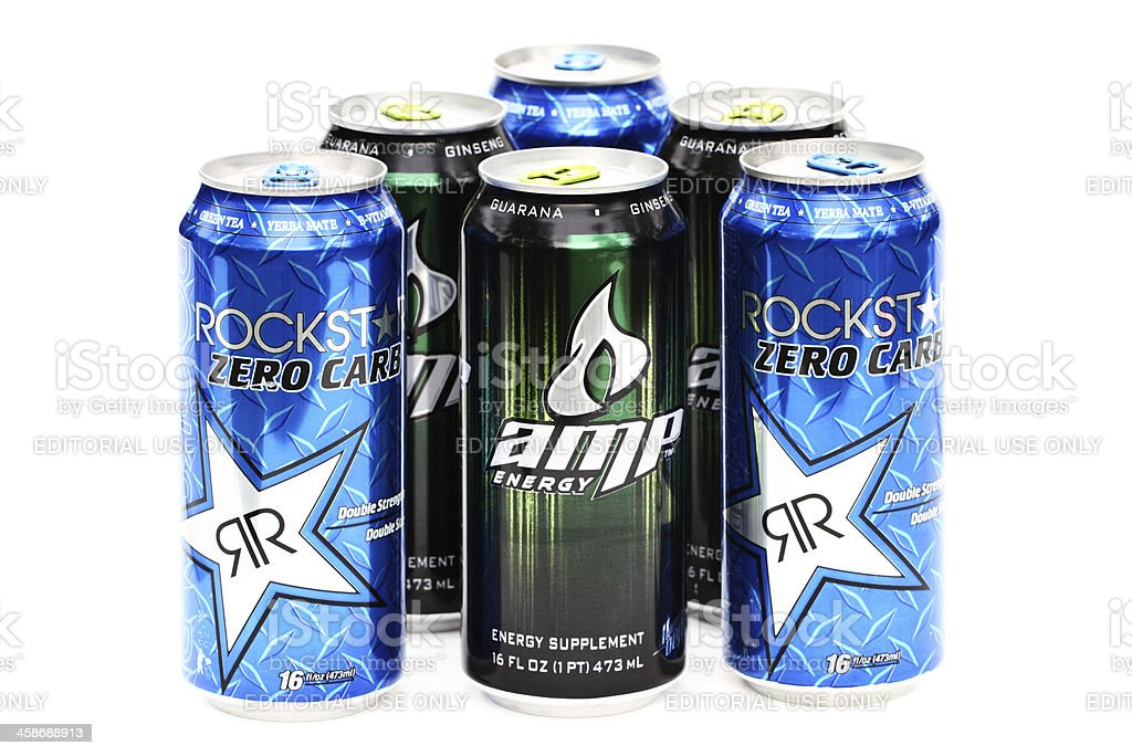 Rock Star and AMP energy dirnk royalty-free stock photo