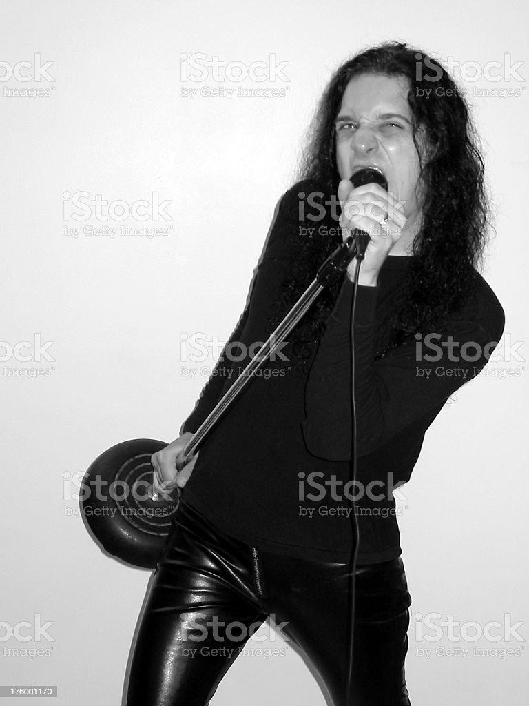 Rock Star - B&W 2 royalty-free stock photo