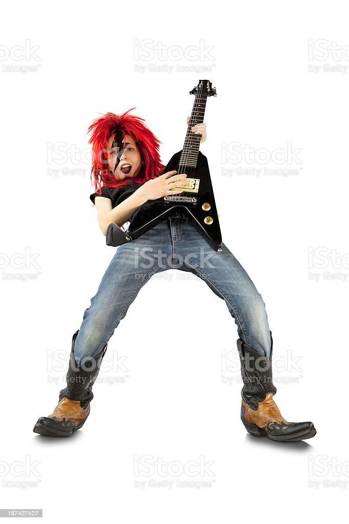 Rock Star Guitar Hero: Lightning royalty-free stock photo