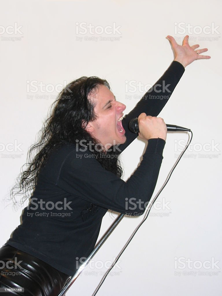 Rock Star - High Note stock photo