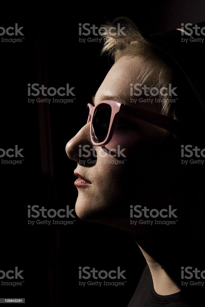 rock estrella en la oscuridad foto de stock libre de derechos