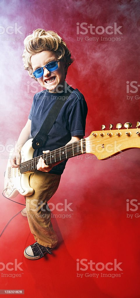 Rock star kid royalty-free stock photo
