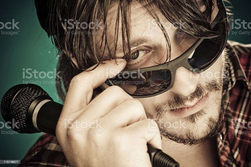 Rock star royalty-free stock photo