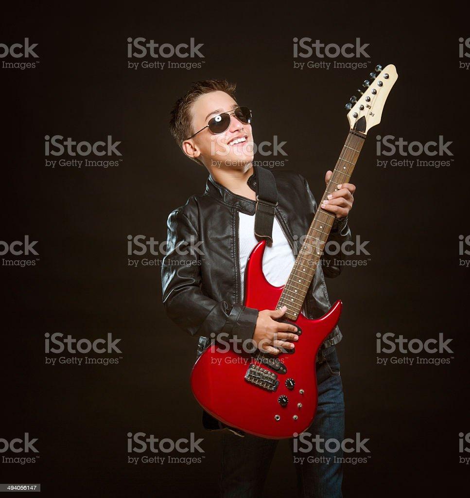 Rock Star Teen stock photo