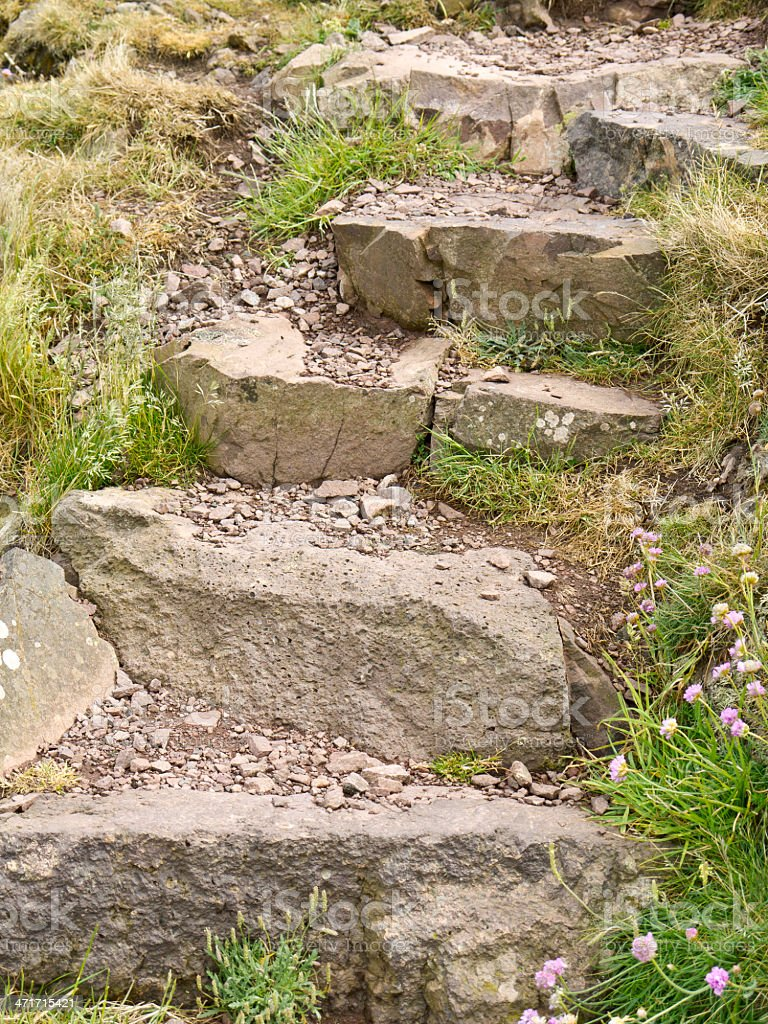 Rock steps stock photo