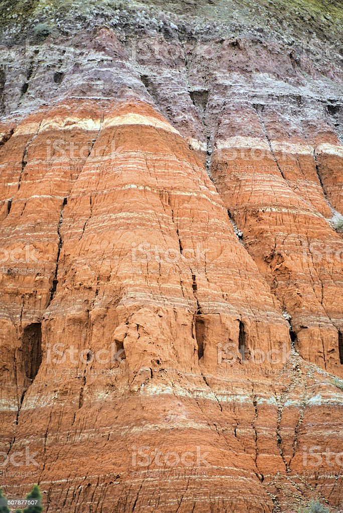 Rock strata - geological history stock photo