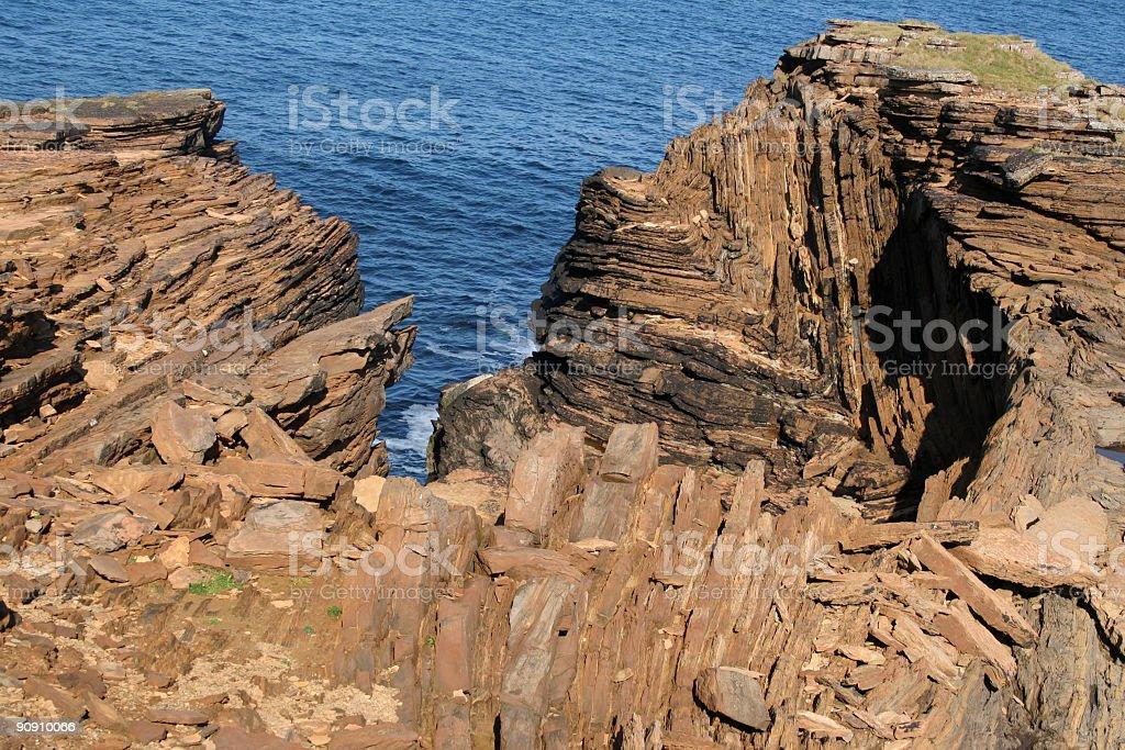 rock strata royalty-free stock photo