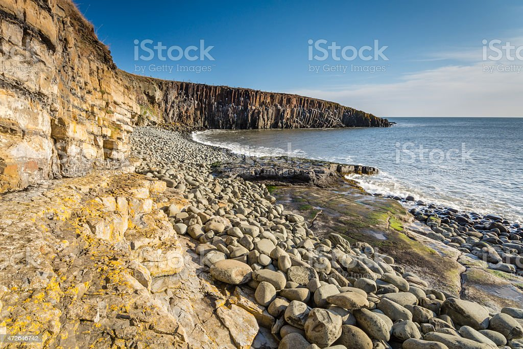 Rock structure at Cullernose Point stock photo
