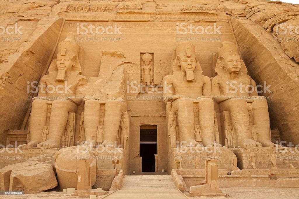 rock temple of rameses II stock photo
