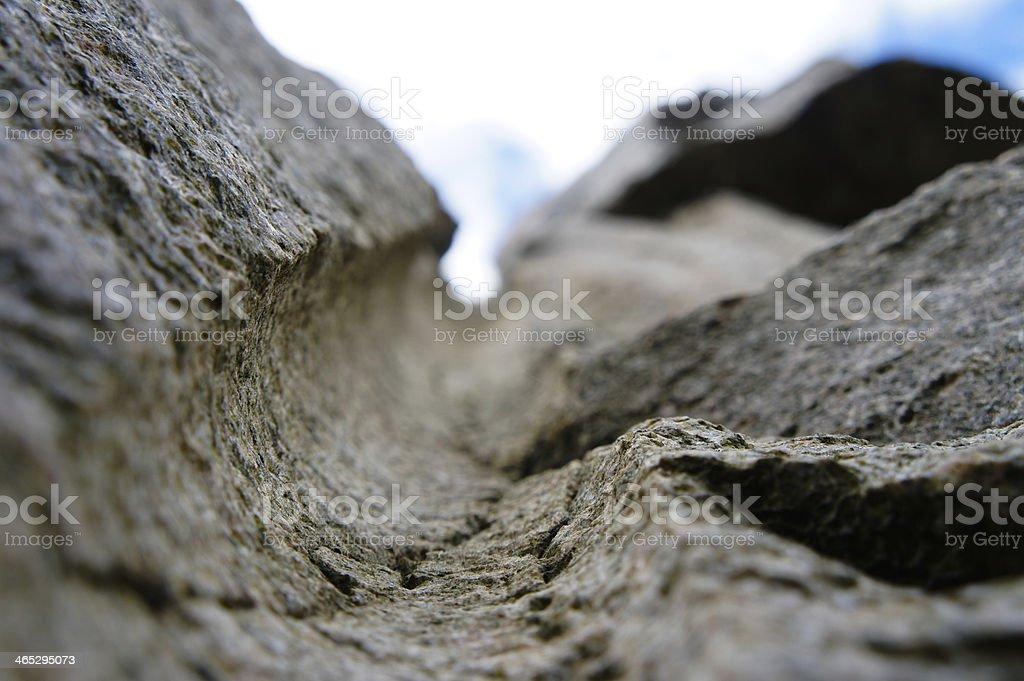 Rock texture hole royalty-free stock photo