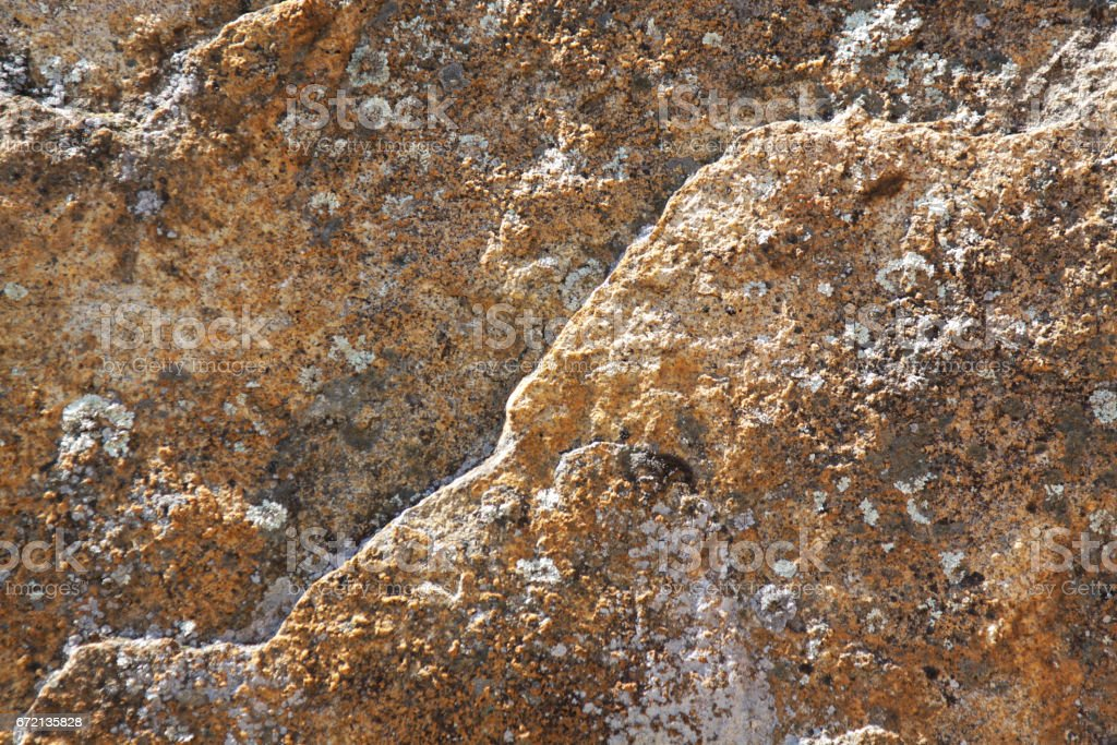 Rock Texture with Lichen stock photo