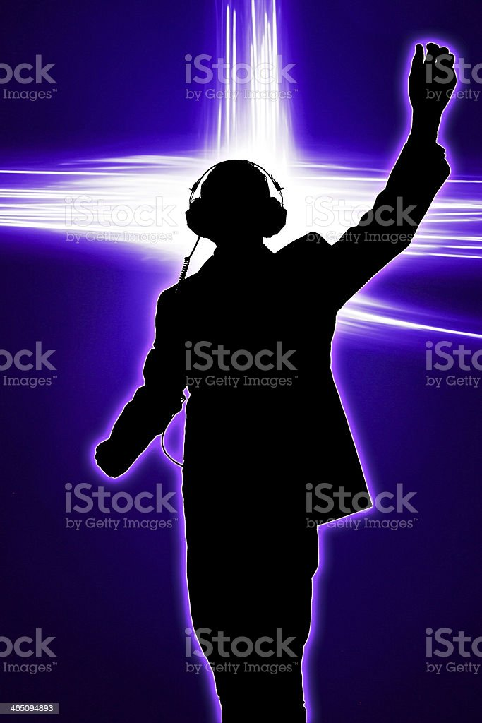 Rock the house deejay stock photo