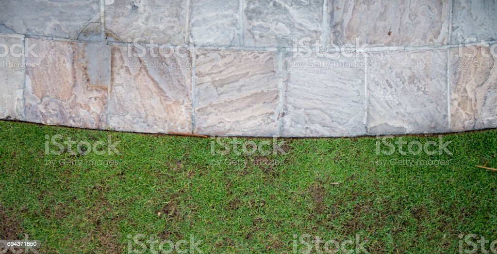 Rock tile footpath texture stock photo