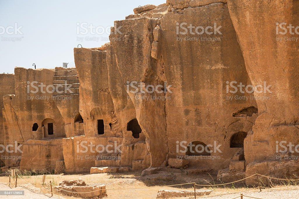 rock tombs stock photo