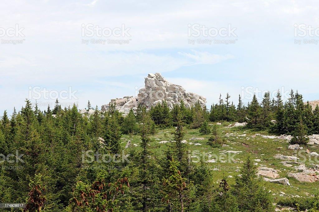Rock top royalty-free stock photo