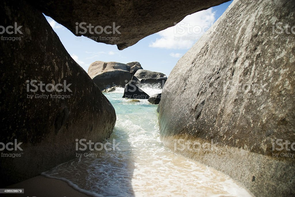 BVI Rock View stock photo