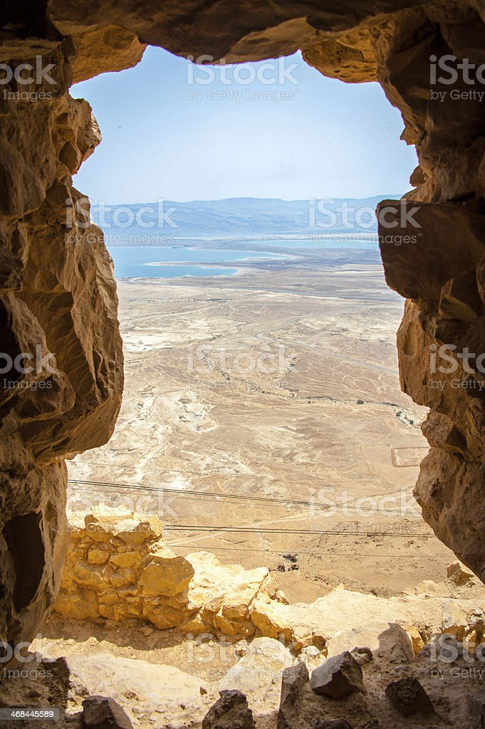 Rock Window with a View stock photo