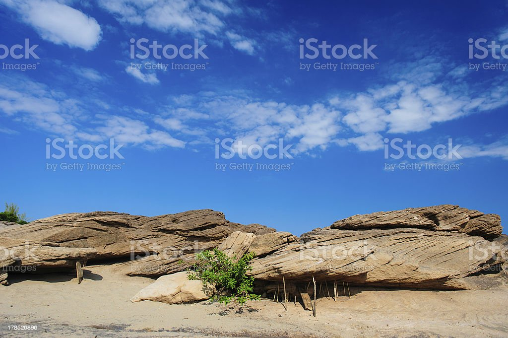 rock with blue sky royalty-free stock photo