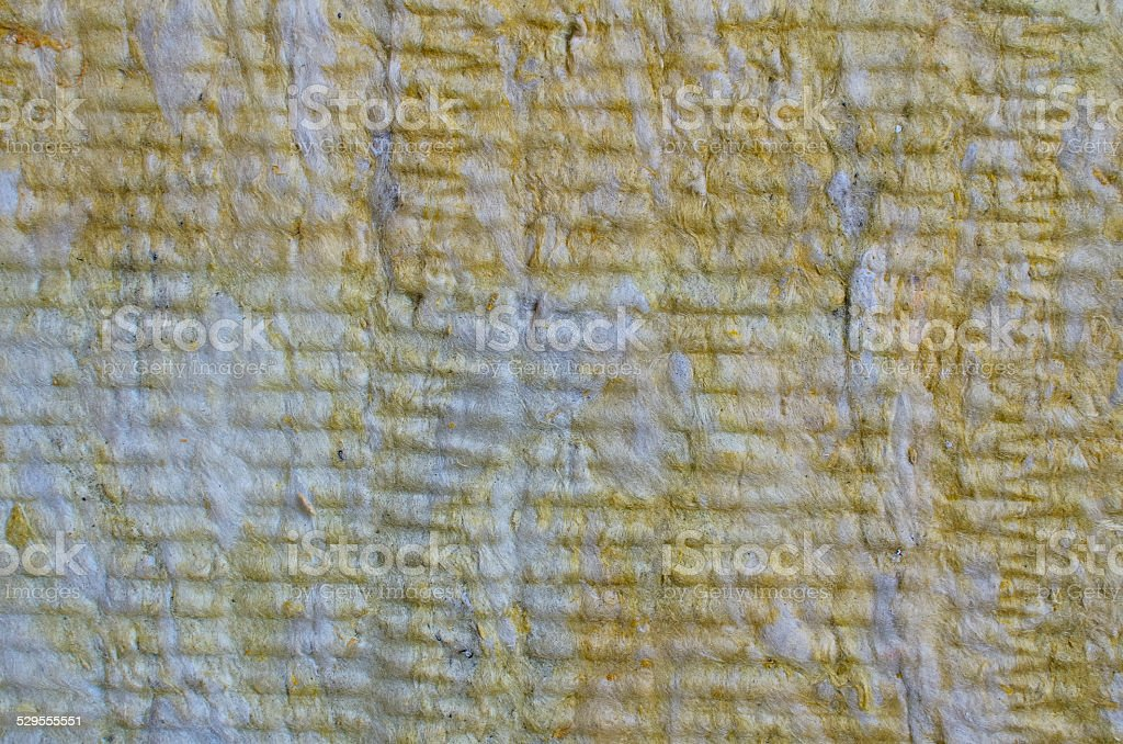 Rock wool, thermal insulation material texture stock photo